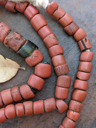 Vintage African 'Green Heart' Beads