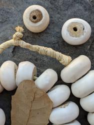 Large Batik Bone Beads (23-25x13mm)