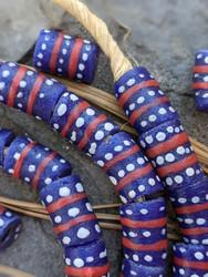Krobo Glass Beads (10x15mm)