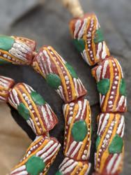 Krobo Glass Beads (11x21-24mm)