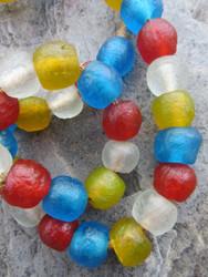 Mixed Ghana Glass Beads (12x13mm)