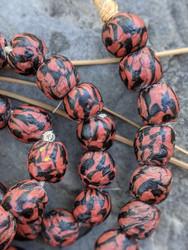 Krobo Glass Beads (13-14x12-13mm)