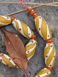 Dijon Yellow African Fancy Glass Beads