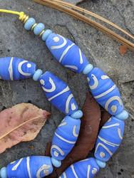 Cornflower Blue African Fancy Glass Beads