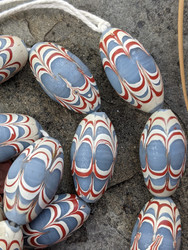 Blue Gray African Fancy Glass Beads