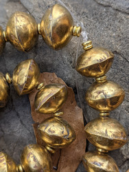 Coin Metal Brass Bicone Beads (16x12mm)