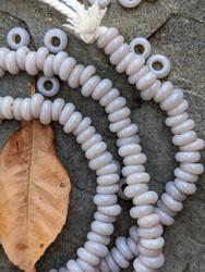 Pearl Gray Zusura Beads (6x3-4mm)
