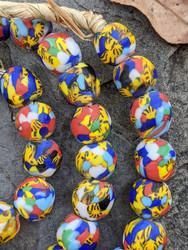Fused Ghana Glass Beads (13x13mm)