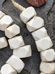 Large Batik Bone Beads (17-20x15-18mm)