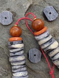 Dyed Bone Disk Beads