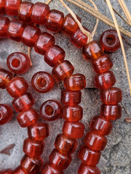 Red Padre Beads (9x6mm)
