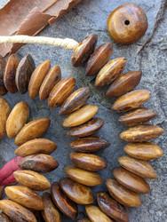 African Bone Disk Beads