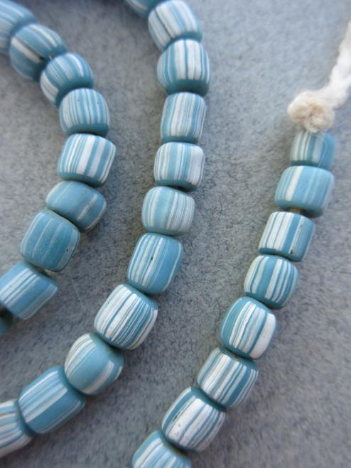 Blue Striped Gooseberry Beads