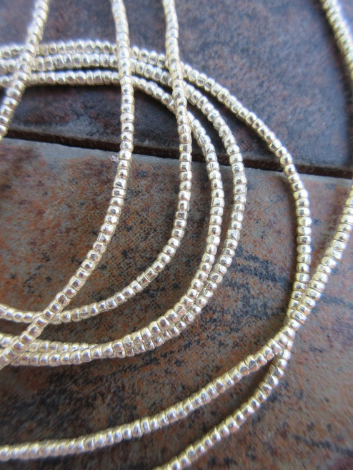 Silver Heishi Beads - 2 Strands (2x1mm)