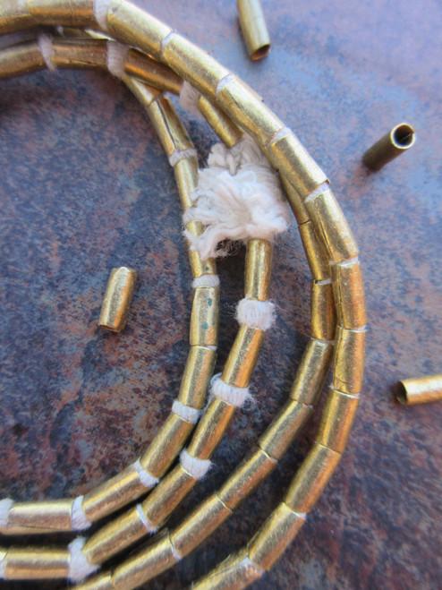 Brass Spacer Beads (3x7mm)