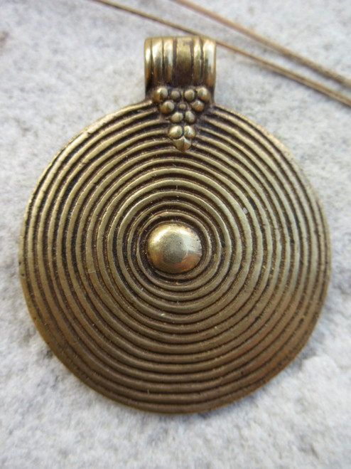 Large Brass Pendant (41x33mm)