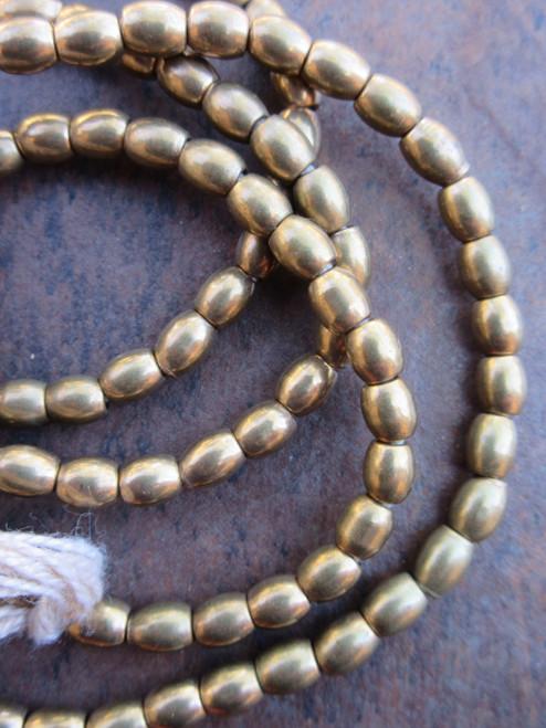 Brass Spacer Beads (3x4mm)