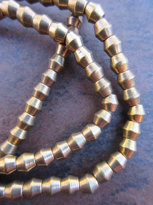Brass Spacer Beads (4x4mm)