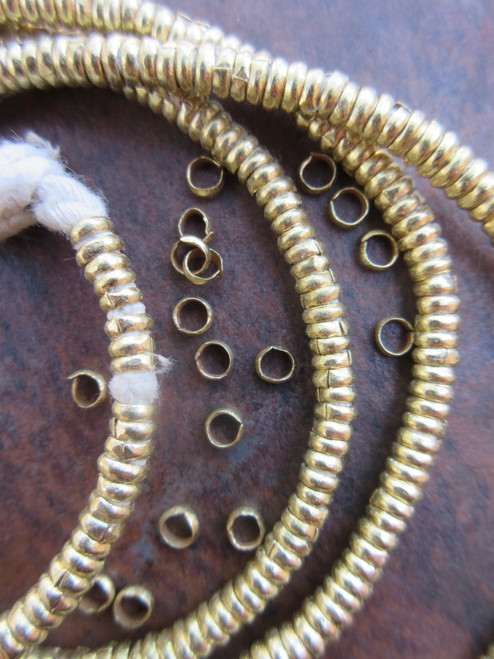Brass Heishi Beads (4x1mm)