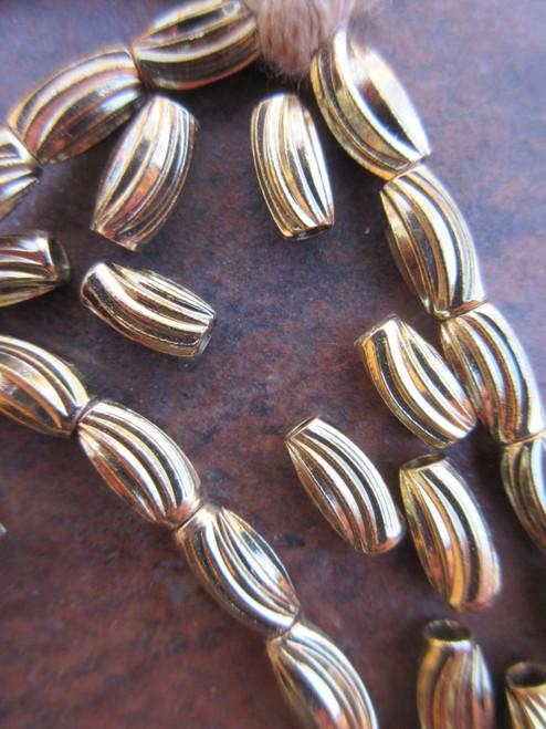 Brass Spacer Beads (9x4-5mm)