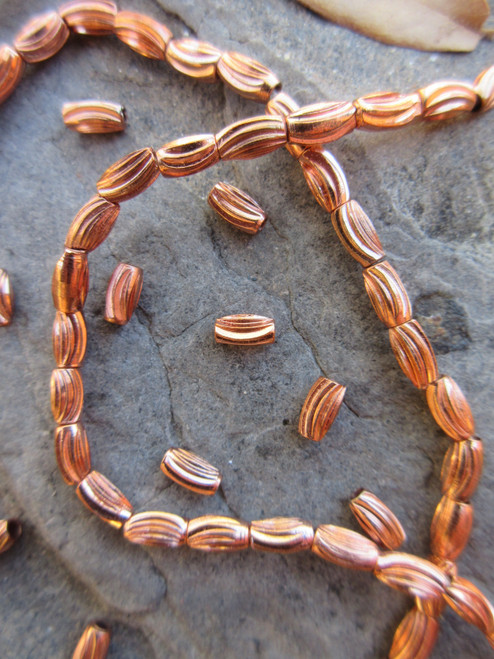 Copper Spacer Beads (6x3mm)
