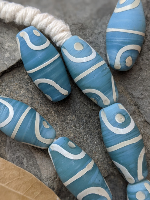 Baby Blue African Fancy Glass Beads