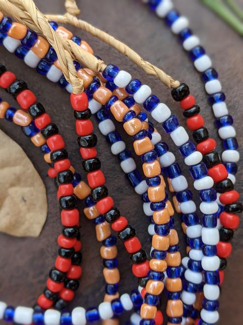 Mixed Ghana Glass Beads - 6 Strands (4x3mm)