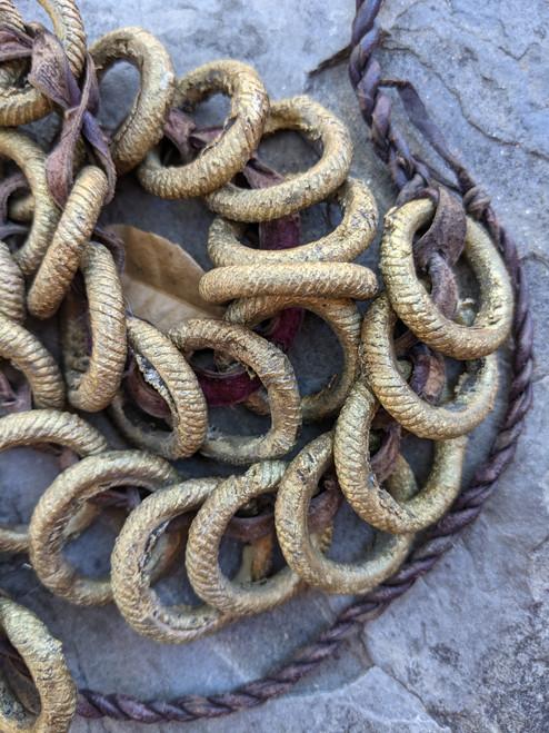 African Brass Ring Belt
