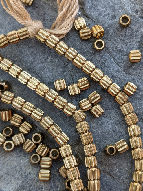Brass Spacer Beads (4x3mm)