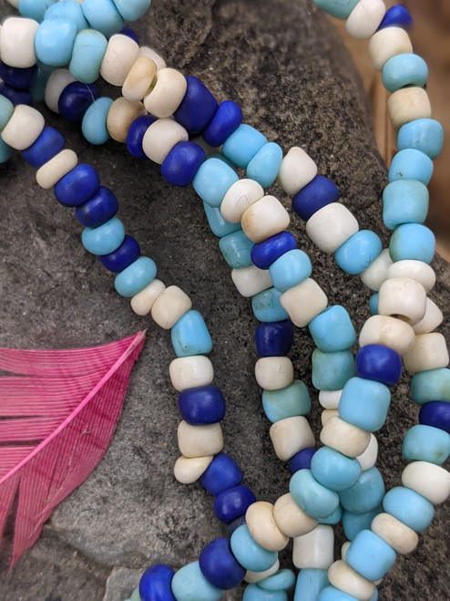 Mixed Ghana Glass Beads - 3 Strands