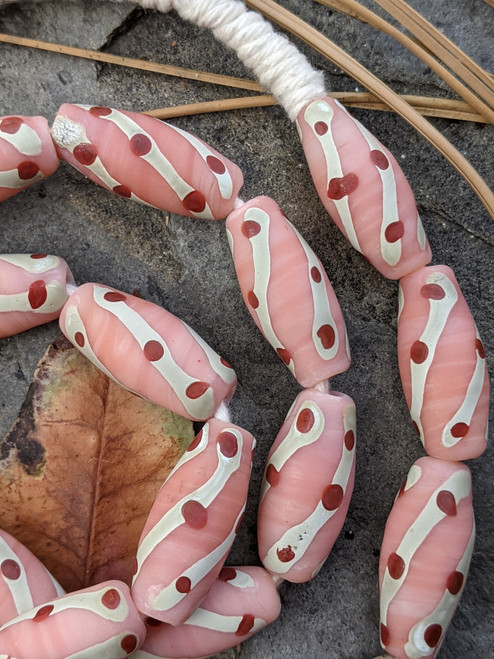Pink African Fancy Glass Beads