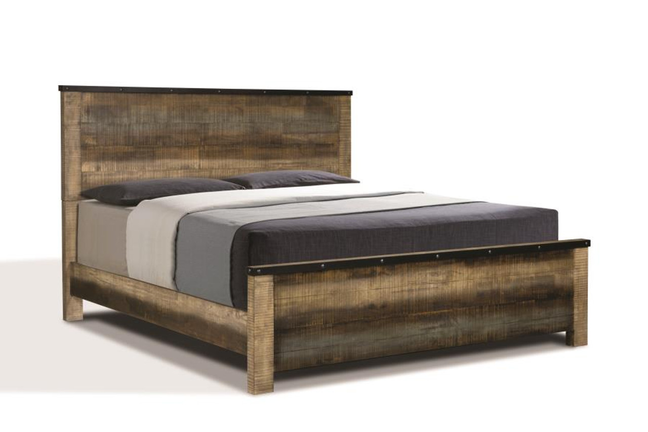 The Sembene Bedroom Rustic Antique Multi Color California King Bed Four Piece Set Sold At Discount Home Furniture Serving Burnsville Mn