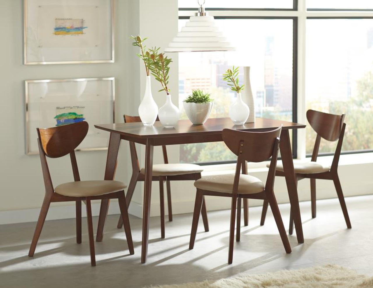 The Kersey Retro Chestnut Dining Table sold at Discount Home ...