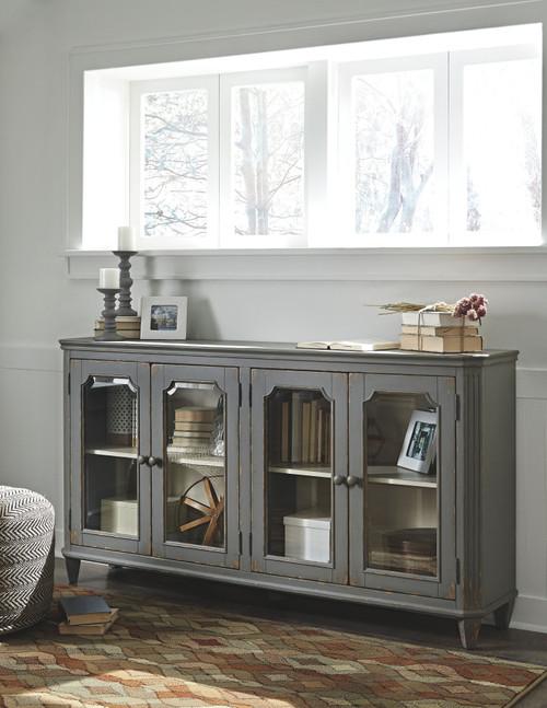 Mirimyn Antique Gray Accent Cabinet