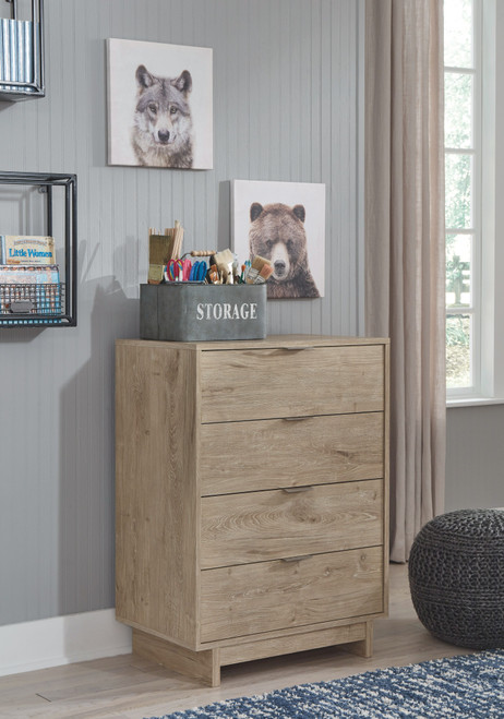 Oliah Natural Four Drawer Chest