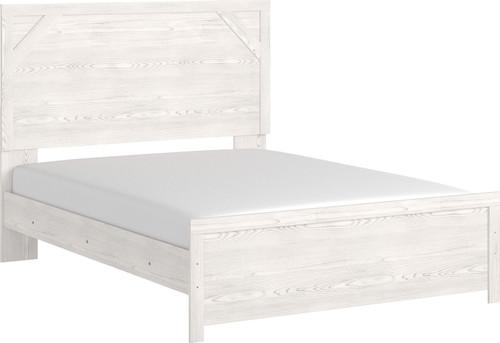 Gerridan White/Gray Queen Panel Bed