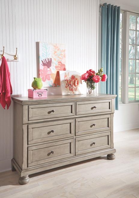 Lettner Light Gray Youth Dresser