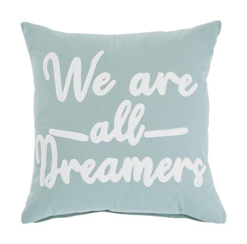 Dreamers Light Green/White Pillow