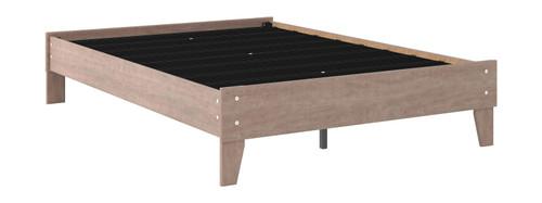 Flannia Gray Full Platform Bed