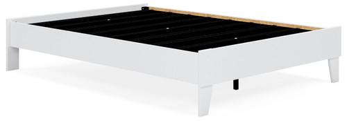 Flannia White Full Platform Bed