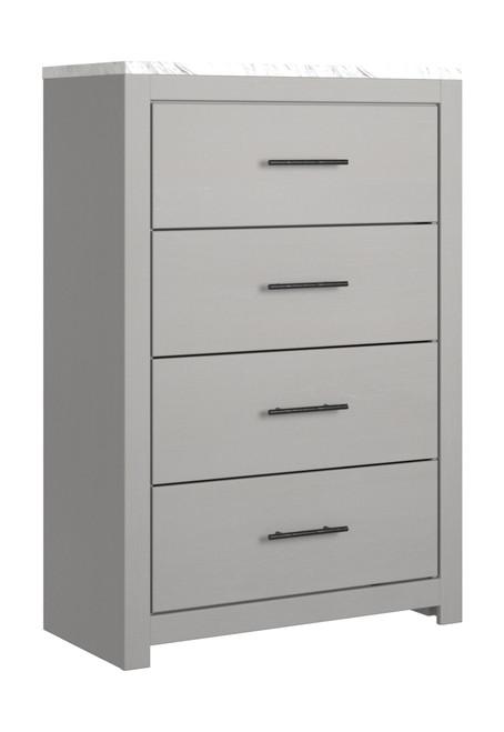 Cottonburg Light Gray/White Four Drawer Chest