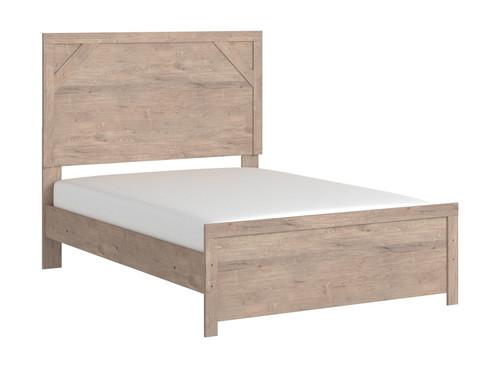 Senniberg Light Brown/White Full Panel Bed
