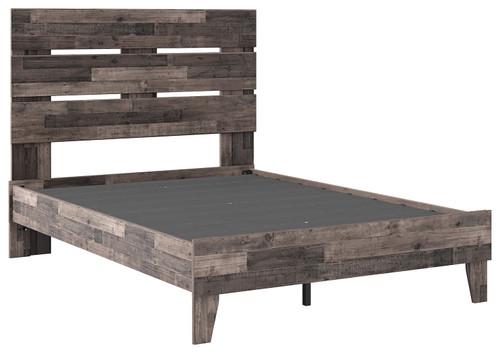Neilsville Multi Gray Full Panel Platform Bed