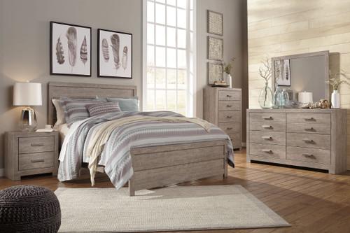 Culverbach Gray 6 Pc. Dresser, Mirror, King Panel Bed, 2 Nightstands