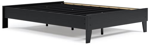 Flannia Black Full Platform Bed