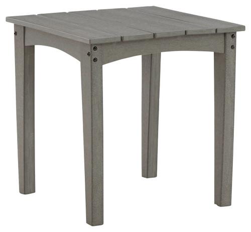 Visola Gray Square End Table