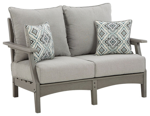 Visola Gray Loveseat w/Cushion