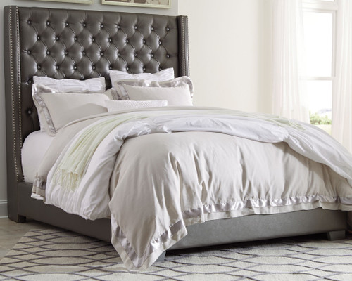 Coralayne Silver California King Upholstered Bed