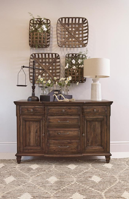Avenue Collection - Delphine 6-drawer Server Vintage Dark Pine (192745)