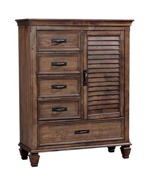 Franco Collection - Franco 5-drawer Man's Chest Burnished Oak (200978)